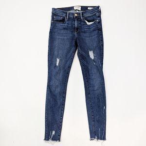 Frame Denim Le Skinny Distressed Ankle Jean 27
